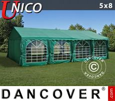 Carpa para fiestas UNICO 5x8m, Verde oscuro