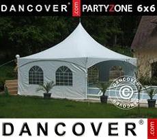 Carpa para fiestas 6x6 m PVC