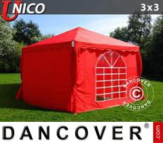Carpa para fiestas UNICO 3x3m, Rojo