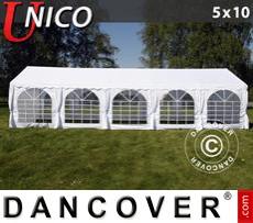 Carpa para fiestas UNICO 5x10m, Blanco