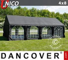 Carpa para fiestas UNICO 4x8m, Negro