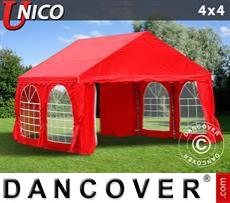 Carpa para fiestas UNICO 4x4m, Rojo