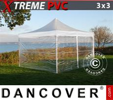 Carpa para fiestas 3x3m Transparente, Incl. 4 lados