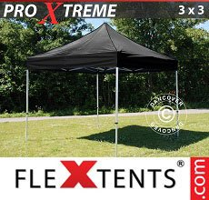 Carpa plegable FleXtents 3x3m Negro