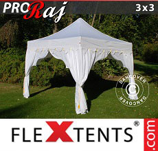 Carpa plegable FleXtents 3x3m Blanco/Oro