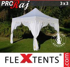 Carpa plegable FleXtents 3x3m Blanco/Oro