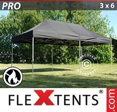 Carpa plegable FleXtents 3x6m Negro, Ignífuga