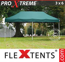 Carpa plegable FleXtents 3x6m Verde