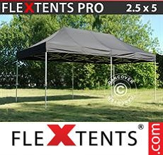 Carpa plegable FleXtents 2,5x5m Negro