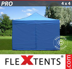 Carpa plegable FleXtents 4x4m Azul, incl. 4 lados