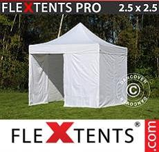 Carpa plegable FleXtents 2,5x2,5m Blanco, Incl. 4 lados