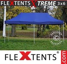 Carpa plegable FleXtents 3x6m Azul oscuro