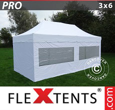 Carpa plegable FleXtents 3x6m Blanco, incl. 6 lados