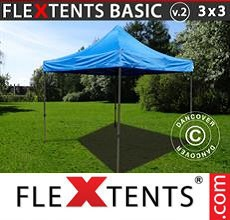 Carpa plegable FleXtents 3x3m Azul