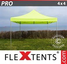 Carpa plegable FleXtents 4x4m Amarillo Flúor/Verde
