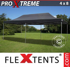 Carpa plegable FleXtents 4x8m Negro