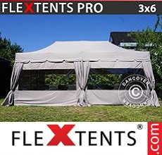 Carpa plegable FleXtents 3x6m Latte, incluye 6 paredes laterales