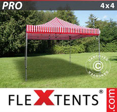 Carpa plegable FleXtents 4x4m rayado