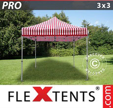 Carpa plegable FleXtents 3x3m rayado