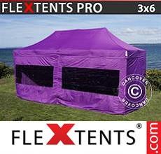 Carpa plegable FleXtents 3x6m Morado, Incl. 6 lados