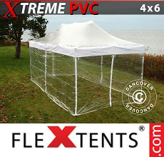 Carpa plegable FleXtents 4x6m Transparente, Incl. 8 lados