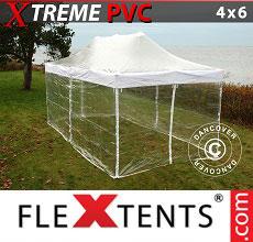 Carpa plegable FleXtents 4x6m Transparente, Incl. 8 lados