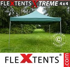 Carpa plegable FleXtents 4x4m Verde