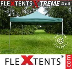Carpa plegable FleXtents 4x4m Verde