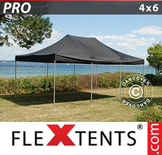 Carpa plegable FleXtents 4x6m Negro