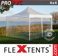 Carpa plegable FleXtents 4x4m Transparente, Incl. 4 lados