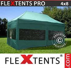 Carpa plegable FleXtents 4x8m Verde, Incl. 6 lados