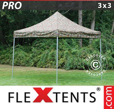 Carpa plegable FleXtents 3x3m Camuflaje