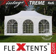 Carpa plegable FleXtents 4x6m Blanco, Incl. 8 lados