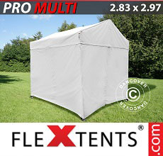Carpa plegable FleXtents 2,83x2,97m Blanco, incl. 4 lados
