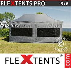 Carpa plegable FleXtents 3x6m Gris, Incl. 6 lados