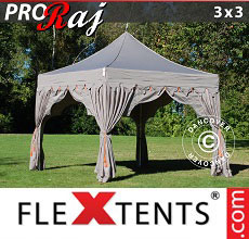 Carpa plegable FleXtents 3x3m Latte/Naranja