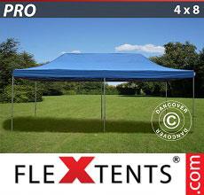 Carpa plegable FleXtents 4x8m Azul