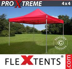 Carpa plegable FleXtents 4x4m Rojo