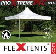 Carpa plegable FleXtents 4x4m, Blanco