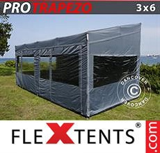 Carpa plegable FleXtents 3x6m Gris, Incl. 4 lados