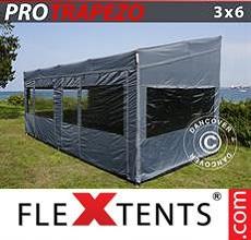 Carpa plegable FleXtents 3x6m Gris, Incl. 4 lados