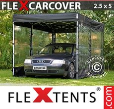 Carpa plegable FleXtents 2,5x5m, Negro