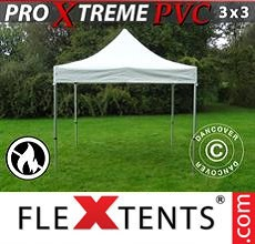 Carpa plegable FleXtents 3x3m, Blanco