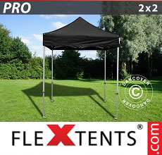 Carpa plegable FleXtents 2x2m Negro