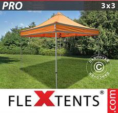 Carpa plegable FleXtents 3x3m Naranja reflectante