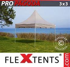 Carpa plegable FleXtents 3x3m Latte