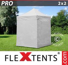 Carpa plegable FleXtents 2x2m Blanco, Incl. 4 lados