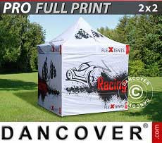 Carpa plegable FleXtents PRO con impresión digital completa, 2x2m, incluye 4...