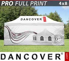 Carpa plegable FleXtents PRO con impresión digital completa, 4x8m, incluye 4...