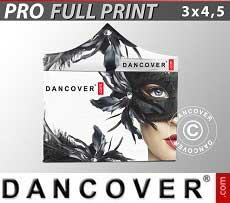 Carpa plegable FleXtents PRO con impresión digital completa, 3x4,5m, incluye 4...